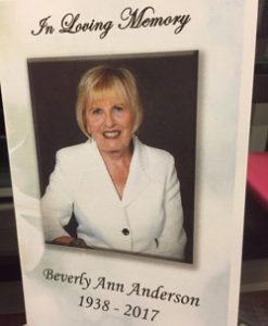 Dr Beverly Anderson: Remembering a Life & a Name